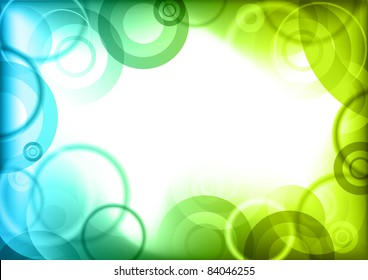 blue and green center background