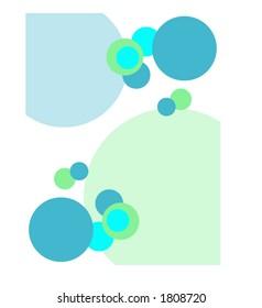 Blue and Green Circles