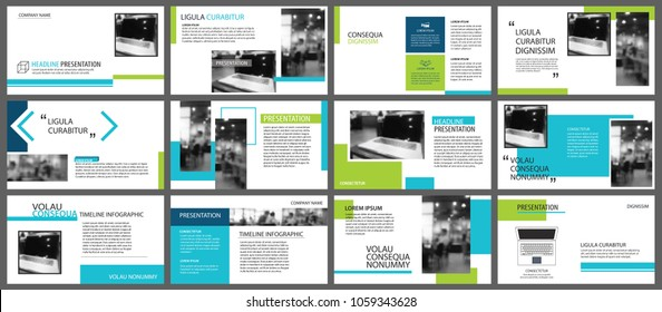 Blue and green element for slide infographic on background. Presentation template. Use for business annual report, flyer, corporate marketing, leaflet, advertising, brochure, modern style.