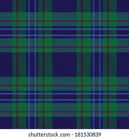 Blue and green plaid tartan seamless pattern background 1