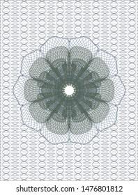 Blue and green rosette (money style emblem). Vector Illustration. Detailed.
