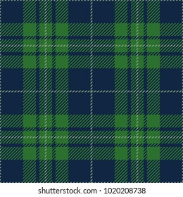 Blue and Green Tartan Plaid Scottish Pattern
