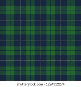 Blue And Green Tartan Plaid Scottish Textile Pattern