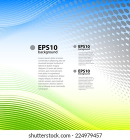 Blue and green vector background with text sample