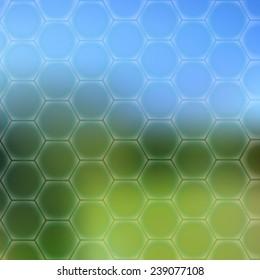 Blue Green Wallpaper With Hexagons