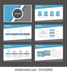 Blue and grey  multipurpose infographic element and icon  presentation template flat design set for brochure flyer advertising and marketing