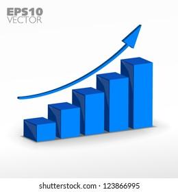 Blue growth graph
