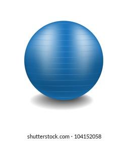 Blue gym ball