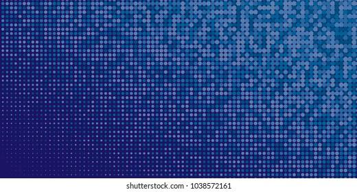 Blue Halftone Dots Colorful Geometric Gradient For Pop Art Designs