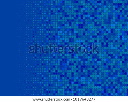 Blue Halftone Dots Colorful Geometric Gradient Stock Vector Royalty