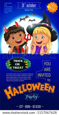 blue halloween cool poster template stock vector royalty free