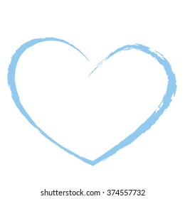 blue heart drawing love valentine