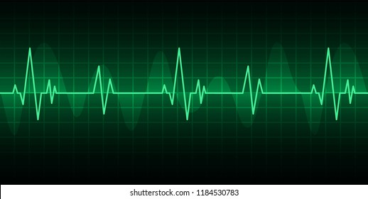 Blue Heart pulse monitor with signal. Heart beat. ekg icon wave