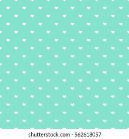 Blue hearts seamless pattern. Vector illustration