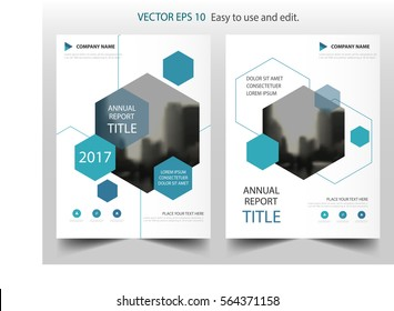 Blue hexagon annual report Leaflet Brochure Flyer template design, book cover layout design, abstract business presentation template, a4 size design