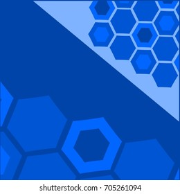 Blue hexagonal geometric abstract backgrounds