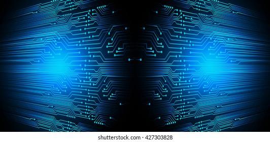 blue high tech circuit board