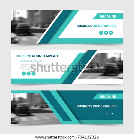 Blue horizontal business banner templates three stock vector blue horizontal business banner templates three corporate headers design for website advertisement and promotion fbccfo