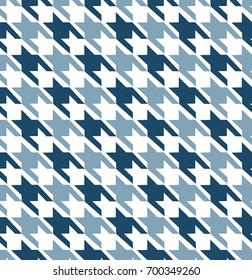 Blue Hounds Tooth Seamless Pattern Design