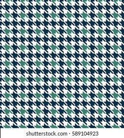Blue Houndstooth Seamless Pattern Design