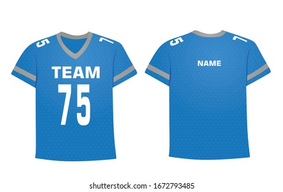 Blue ice hockey shirt. vector illustration