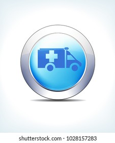 Blue Icon Button Ambulance, Results, Healthcare & Pharma