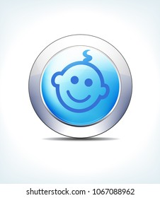 Blue Icon Button Child for use in your Healthcare & Pharmaceutical presentations