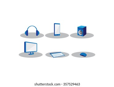 Blue Icon Computer accessories