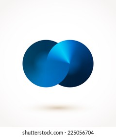 Blue Infinity loading spinner. Vector illustration.