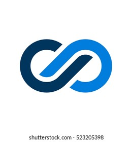Blue Infinity Vector Logo Template