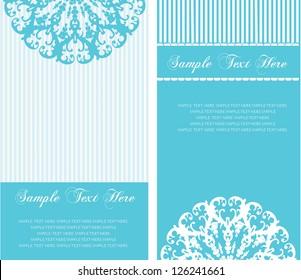 blue invitation card very romantic and fresh