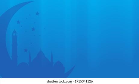 blue islamic background wallpaper. suitable for ramadan or eid greetings. vector