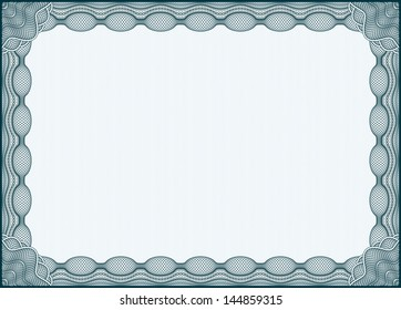 Blue isolated certificate template