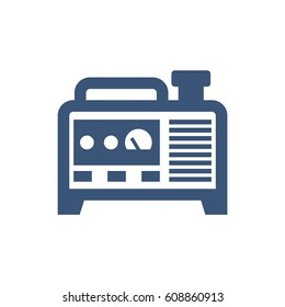 Blue isolated generator vector icon