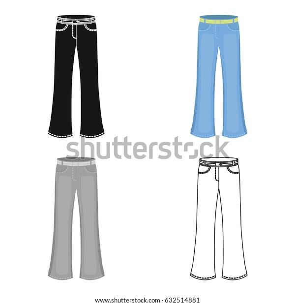 Blue jeans with a belt.Hippy single icon in cartoon style vector symbol stock illustration web.