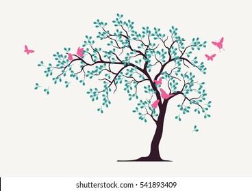 Blue leave Tree