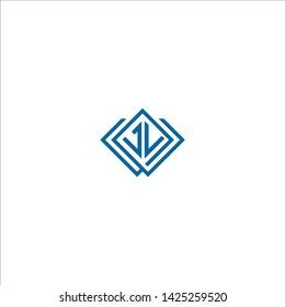 Blue letter JL logo design
