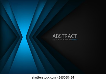 Blue light angle background and line overlap layer paper on dark space for text and message modern artwork design