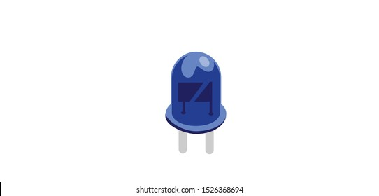 Blue light emitting diode or LED