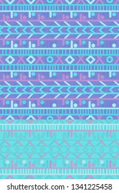 blue and light pink colorful seamless horizontal stripes pattern tile with ethnic design for textile, fabric, wallpaper, covers, brochures, posters, backgrounds and creative surface design templates
