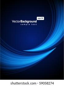 Blue light wave vector background