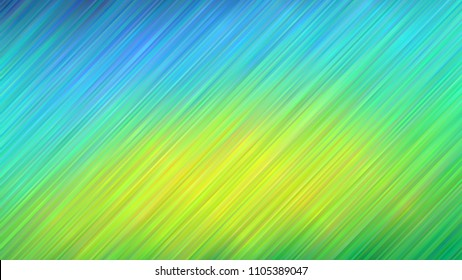 Blue to Lime Green Vivid Gradient Stripes Vector Background. Variable Color Diagonal Lines Texture. Ombre Fade Backdrop. Hatching Strokes Surface. Navy, Blue, Turquoise, Yellow, Green Backdrop.