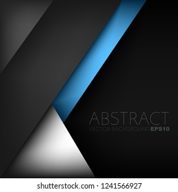 Blue line geometric black space vector background