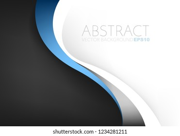 Blue line vector background with black and white space
