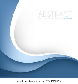 Blue line vector background overlap layer on white space for presentation background design