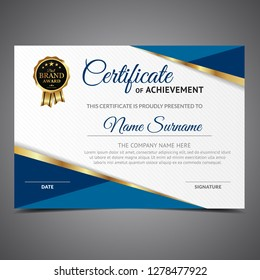 Blue Lined Diploma