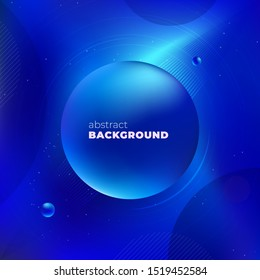 Blue Liquid color background design. Fluid gradient shapes composition. Futuristic design posters. Eps10 vector.