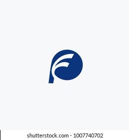blue logo pf vektor