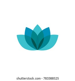 Blue lotus logo, icon template