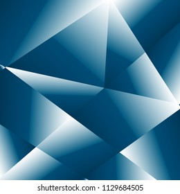 Blue luxury background, brilliant fractal. Vector polygon abstract polygonal geometric triangle background. Diamond jewelry. Low poly fractal illustration. Abstract indigo geometric polygonal shape.